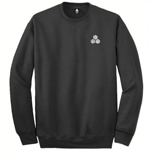 Channel Islands Stamped Flag Sweatshirt - Black Washed