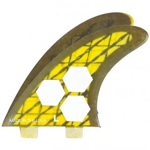 Channel Islands Fins - Tech 3 Large - Yellow/Carbon