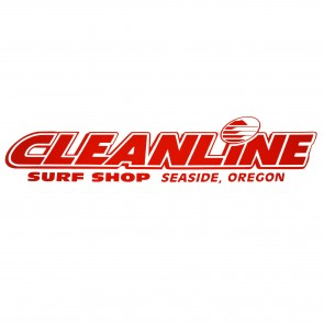 Cleanline Surf Seaside Logo Die Cut Sticker - Red