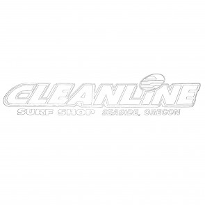 Cleanline Surf Seaside Logo Die Cut Sticker