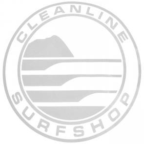 Cleanline Surf Big Rock Circle Sticker - Chrome