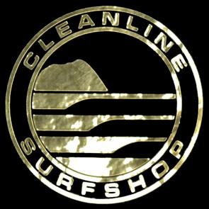 Cleanline Surf Big Rock Circle Sticker - Gold