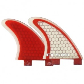 FCS Fins - GXQ Side Bites - Red/Clear