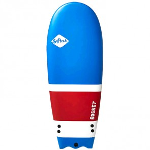 Softech Surfboards - 56'' Rocket Softboard - Blue/White/Red