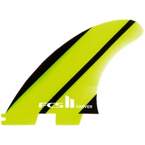 FCS II Fins - Carver Neo Glass Tri Medium - Lime/Black