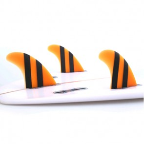 FCS II Fins Accelerator Limited Edition PG Medium - Neon Orange/Black