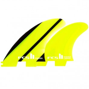 FCS II Fins Carver Neo Glass Tri-Quad Large - Lime/Black