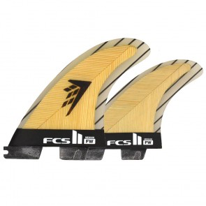 FCS II Fins - FW PC Medium Tri-Quad - Bamboo/Carbon