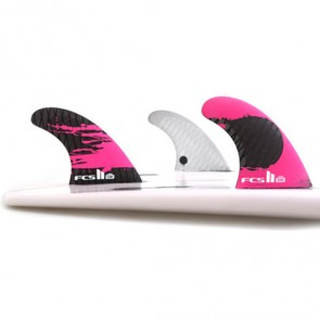 FCS II Fins GM PC Carbon Large - Pink/Carbon