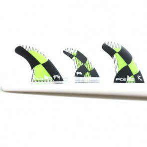 FCS II Fins MB PC Carbon Medium - Green/Black