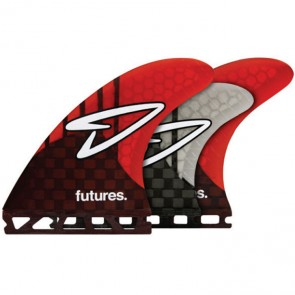 Futures Fins Roberts Generation Tri-Quad - Carbon/Red