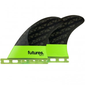 "Futures Fins QD2 4.0"" Blackstix 3.0 - Light Green"