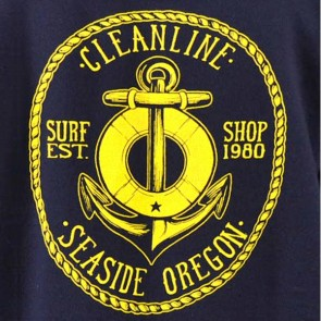 Cleanline Anchor Hoodie - Navy/Gold