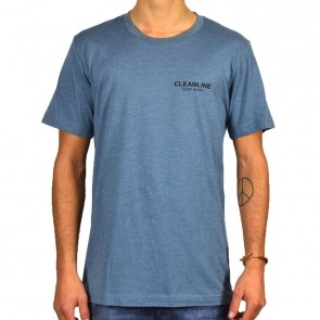 Cleanline Lines T-Shirt - Heather Slate/Black