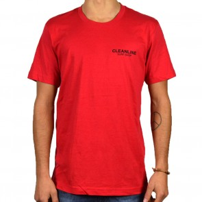 Cleanline Lines T-Shirt - Red/Black