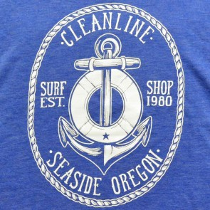 Cleanline Youth Anchor T-Shirt - Heather Blue