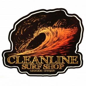 Cleanline Surf Graphite Sunset Sticker