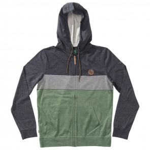 HippyTree Rincon Zip Hoodie - Heather Army