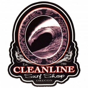 Cleanline Surf Hollow Wave Sticker