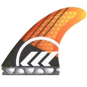 Kinetik Racing Fins - Parko Phase 4 Small Futures - Yellow/Orange Fade