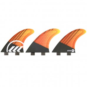 Kinetik Racing Fins - Parko Phase 4 Small FCS - Yellow/Orange Fade
