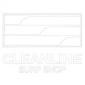 Cleanline Surf Lines Die Cut Sticker - White