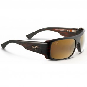 Maui Jim Five Caves Sunglasses - Dark Tortoise Stripe/HCL Bronze