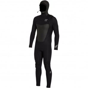 Billabong Foil Plus 5/4 Hooded Chest Zip Wetsuit - Black