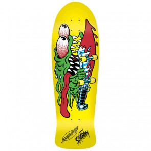 Santa Cruz Skateboards - Slasher Yellow Dip Deck