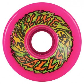 Santa Cruz Skateboards - 66mm Slime Balls 66's Wheels - Neon Pink