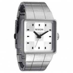 Nixon Watches - The Quatro - Sanded Steel/White