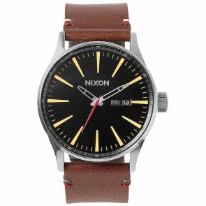 Nixon Watches The Sentry Leather - Black/Brown