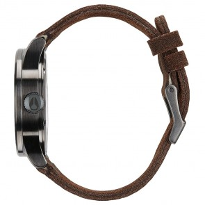 Nixon Watches - The Sentry Leather - Gunmetal/Brown
