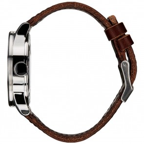 Nixon Watches The Sentry Leather - Blue/Brown