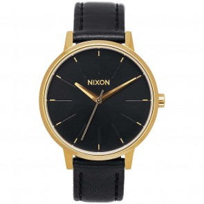 Nixon Watches The Kensington Leather - Gold/Black