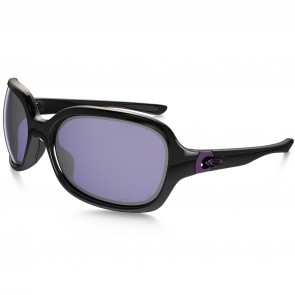 Oakley Women's Pulse Polarized Sunglasses - Polished Black/OO Grey