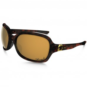 Oakley Women's Pulse Polarized Sunglasses - Tortoise/Brown Gradient