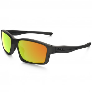 Oakley Chainlink Sunglasses - Matte Black/Fire Iridium