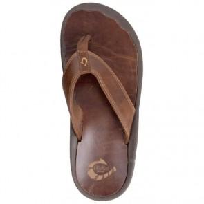 Olukai 'Ohana Leather Sandals - Ginger/Ginger