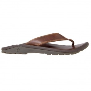 Olukai 'Ohana Leather Sandals - Ginger/Ginger