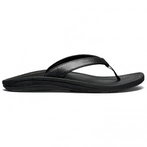 Olukai Women's Kulapa Kai Leather Sandals - Black