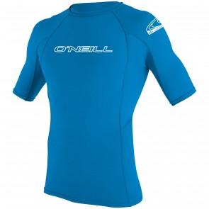 O'Neill Youth Skins Short Sleeve Crew Rash Guard - Bright Blue