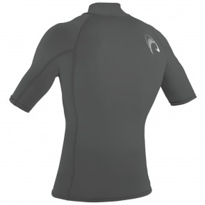 O'Neill Wetsuits Skins Short Sleeve Turtleneck Rash Guard - Graphite