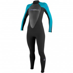O'Neill Women's Reactor 3/2 Wetsuit - Black/Turquoise