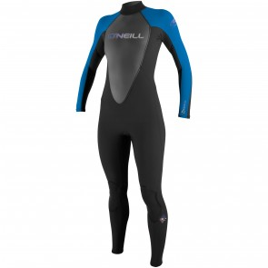 O'Neill Women's Reactor 3/2 Wetsuit - Black/Ruby Blue/Black