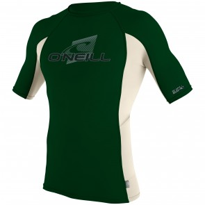 O'Neill Skins Short Sleeve Crew Rash Guard - Combat/Shell