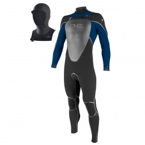 O'Neill Youth Mutant 5/4/3 Hooded Wetsuit - Black/Deep Sea