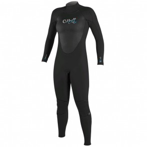 O'Neill Women's Epic 4/3 Back Zip Wetsuit - Black