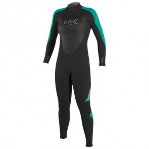 O'Neill Youth Girls Epic 4/3 Wetsuit - Black/Aqua/Spyglass