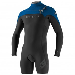 O'Neill HyperFreak 2mm Long Sleeve Spring Wetsuit - Black/DeepSea/Smoke